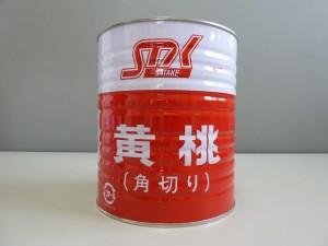 黄桃 角切1号缶(正面)